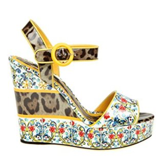 Dolce e Gabbana Women's Multicolor Leather Wedges