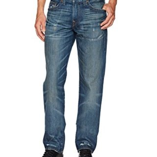 True Religion Men's Geno Slim Straight Jeans1, Street Dweller, 30
