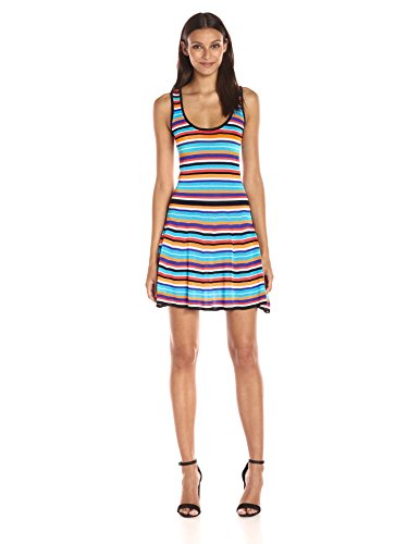 Trina Trina Turk Women's Kaine Striped Sweater Dress, Tomato, Medium