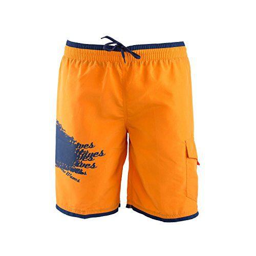 Just Cavalli Men Orange Blue Long Board Swim Shorts Side Pocket Trunks Swimsuit XXS US EU 44