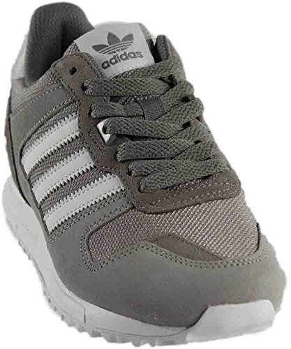 adidas Originals Men's ZX 700 Running Shoe, Solid Grey/White/Medium Grey Heather, 8 M US