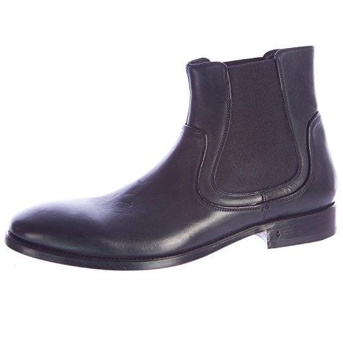 John Varvatos Men's Fleetwood Chelsea Leather Boots 7 Black