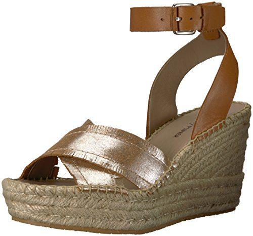 Donald J Pliner Women's INES Espadrille Wedge Sandal, Silver, 10 Medium US