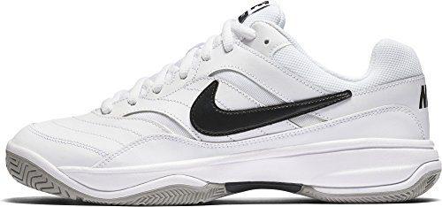 NIKE Men's Court Lite Tennis Shoe, White/Medium Grey/Black, 13 D(M) US