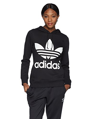 adidas Originals Women's Trefoil Hoodie, Black, Large