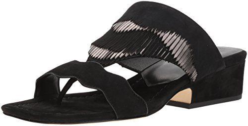 Donald J Pliner Women's Darcie Slide Sandal, Black, 7 Medium US