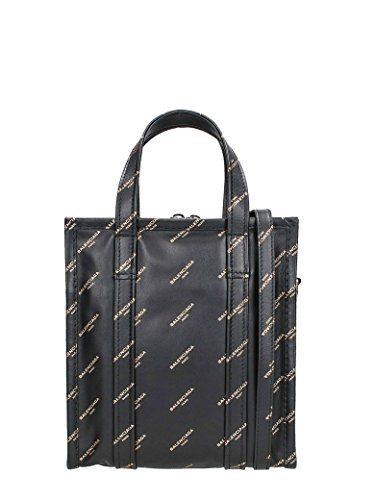 Balenciaga Black Bazar Shopper AJ XS Tote Bag Black/Gold Leather Italy Tote New