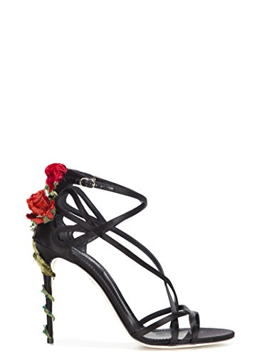 Dolce e Gabbana Women's Black Leather Sandals