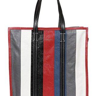 Balenciaga Women's White/Black Leather Handbag