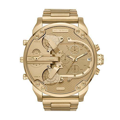Diesel Men's Mr Daddy 2.0 Quartz Stainless Steel Chronograph Watch, Color Gold-Tone (Model: DZ7399)