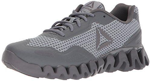 Reebok Men's Zig Pulse Running Shoe, Flint Grey/Alloy/Ash Grey, 10.5 M US