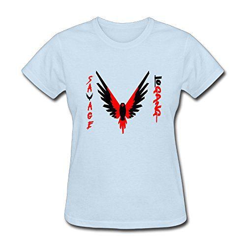 Erin Forman Women's Popular Celebrity Short-Sleeve T-Shirt Logan Paul Parrot Logo SkyBlue