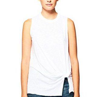 Stateside Women's New Twist Tank Top, White, Small