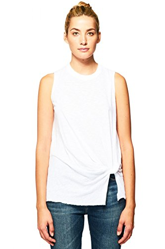 Stateside Women's New Twist Tank Top, White, Small