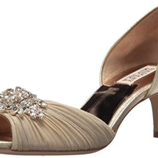 Badgley Mischka Women's Sabine II Pump, Platino, 7.5 M US
