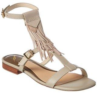 B Brian Atwood Megan Leather Sandal, 6, White