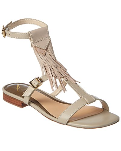 B Brian Atwood Megan Leather Sandal, 6, White