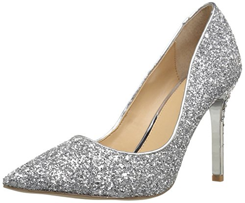 Badgley Mischka Jewel Women's Tegen Pump, Silver, 7.5 Medium US