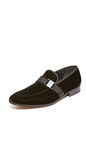 Salvatore Ferragamo Men's Danny Velvet Loafers, Black, 9 D(M) US
