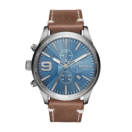 Diesel Men's Quartz Stainless Steel and Leather Casual Watch, Color Brown (Model: DZ4443)
