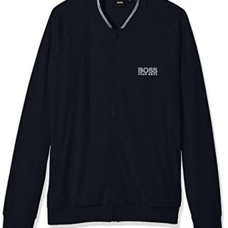 Hugo Boss Men's College Jacket Zip, Dark Blue, M