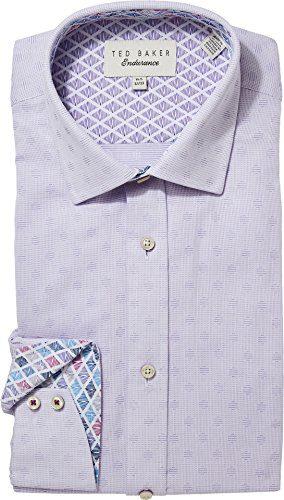 Ted Baker Men's racking Endurance Dress Shirt Purple 16-32/33