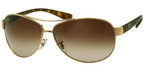 Ray-Ban Sunglasses - Frame: Gold Lens: Brown Gradient (63mm)