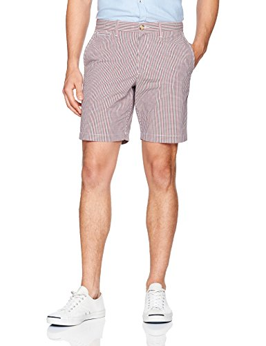 "Original Penguin Men's 8"" Gingham Plaid Short, Bright White, 36"