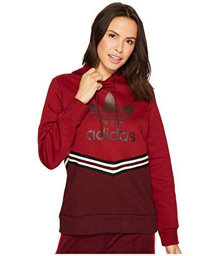 adidas Originals Women's Adi Break Hooded Sweater Maroon Small