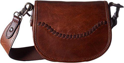 FRYE Melissa Whipstitch Mini Saddle, Cognac