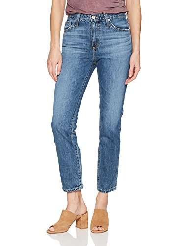 AG Adriano Goldschmied Women's The Isabelle High Rise Straight Jean, Crashing Wave, 28