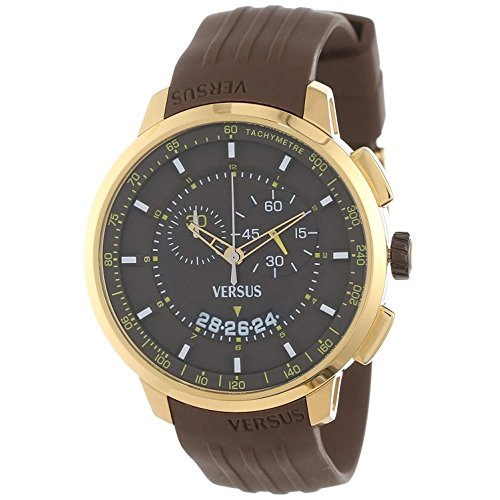 Versus by Versace Men's Manhattan Gold Ion-Plated Stainless Steel Chronograph Tachymeter Date Watch