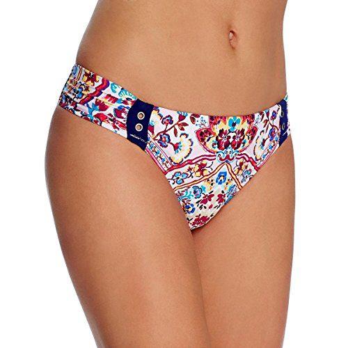 Nanette Lepore Women's Hipster Bikini Swimsuit Bottom, Multi/Festival Folkloric, Small