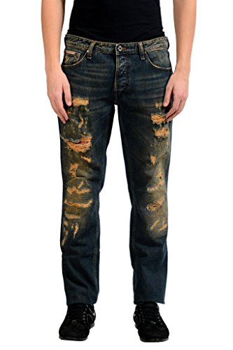 Just Cavalli Men's Ripped Slim Jeans US 30 IT 46;