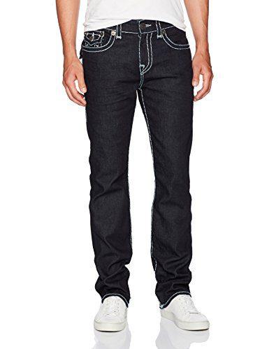 True Religion Men's Ricky Super T Straight Leg Jeans, Inglorious, 28