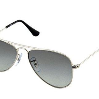 Ray-Ban Jr. Kids Aviator Kids Sunglasses Silver Shiny/Grey Metal - Non-Polarized - 50mm