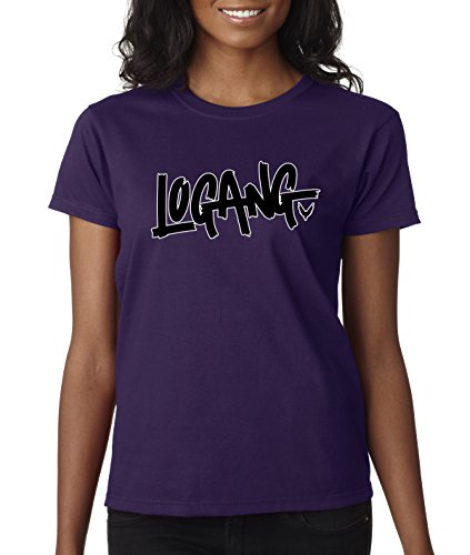 New Way 826 - Women's T-Shirt Logang Logan Paul Maverick Savage Small Purple