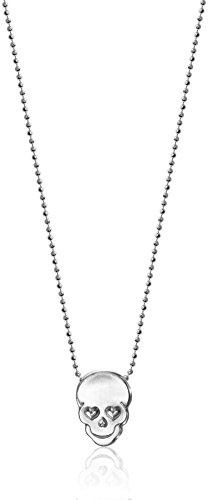 Alex Woo Little Rock Star Silver Skull Pendant Necklace