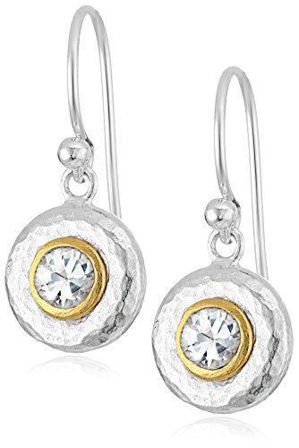 """GURHAN""""Droplet"""" Sterling Silver White Sapphire Hook Drop Earrings"""