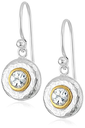 "GURHAN""Droplet"" Sterling Silver White Sapphire Hook Drop Earrings"