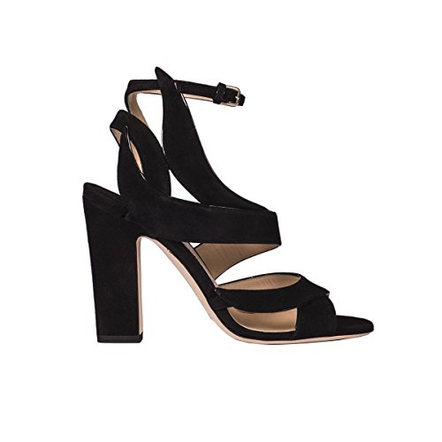JIMMY CHOO Women's Falcon100suedeblack Black Suede Sandals