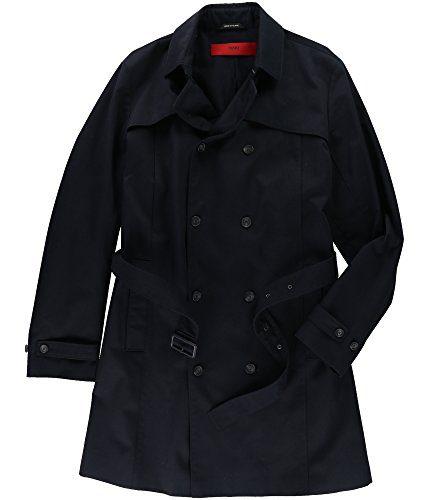 Hugo Boss Mens Belted Raincoat Blue 44R