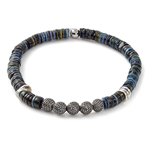 Tateossian Mens Blue Seychelles Bracelet - Large 19cm