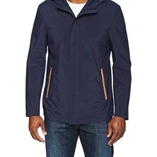 Robert Graham Men's Grafton Rain Jacket, Navy, XLarge
