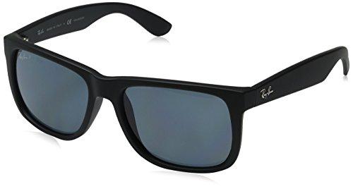 Ray-Ban Men's Justin Polarized Sunglasses, Black Rubber, 54mm