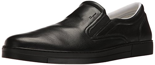 Salvatore Ferragamo Men's Miraggio Sneaker, Black 1, 45.5 (US Men's 11.5) D-Medium