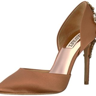Badgley Mischka Women's Karma Pump, Dark Nude, 6.5 Medium US