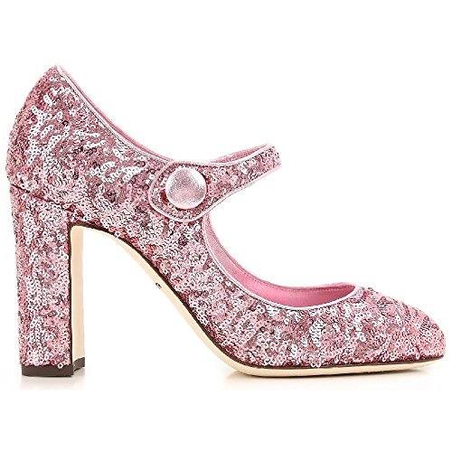 Dolce&gabbana Women's Pink Glitter Pumps - Heels Shoes - Size: 37.5 EU