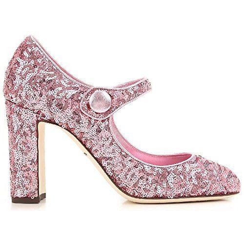 Dolce&gabbana Women's Pink Glitter Pumps - Heels Shoes - Size: 37.5 EU