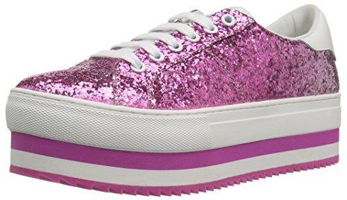 Marc Jacobs Women's Grand Platform Lace up Sneaker, Pink/Multi, 36 M EU (6 US)